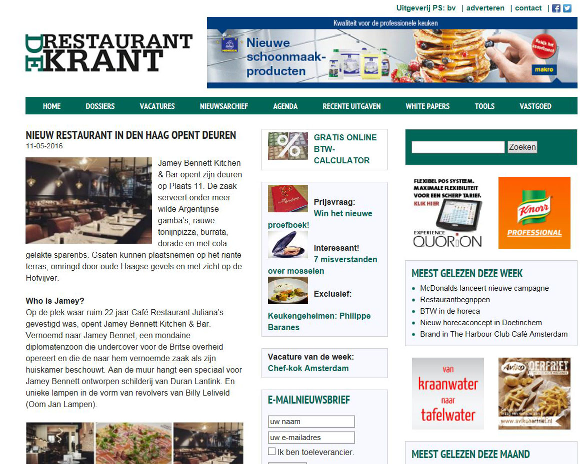 De Restaurant Krant